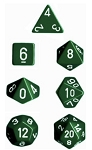 Chessex Polyhedral Opaque Green Dice Set