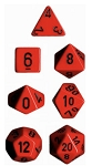 Chessex Polyhedral Opaque Red/Black Dice Set
