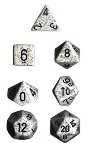 Chessex Polyhedral Speckled Arctic Camo Dice Set